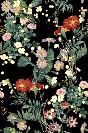 绿叶植物手绘花琼