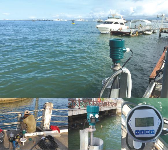海南三亚水文雷达测海水液位计高度
