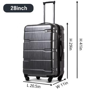Coolife Luggage Suitcase 3 Piece Set with TSA Lock Spinner Hardshell Lightweight
