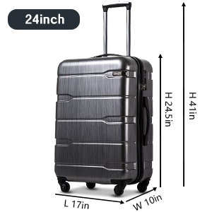 Coolife Luggage Suitcase 3 Piece Set with TSA Lock Spinner Hardshell Lightweight