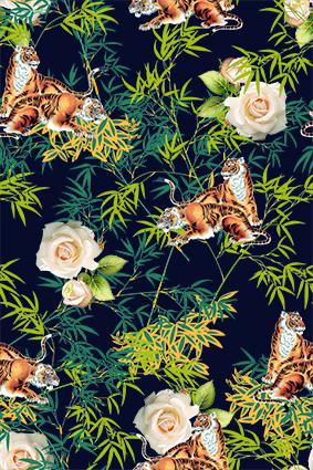 丛林老虎嫩芽竹叶