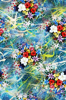 多彩缤纷色彩花湖