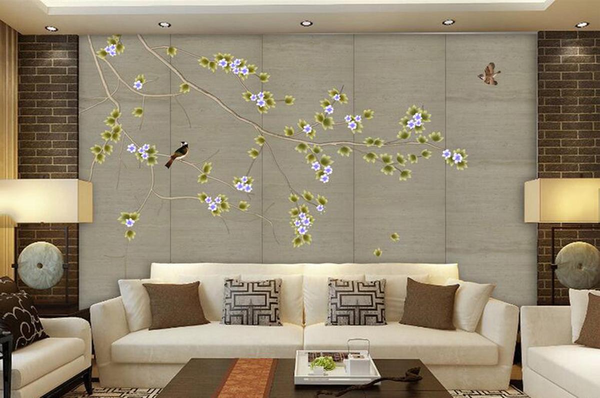 手绘墙纸壁画316416258