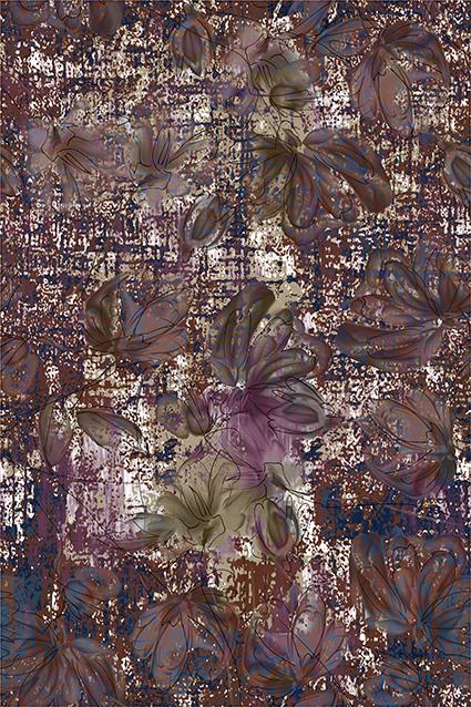 柔和古典色彩花饰