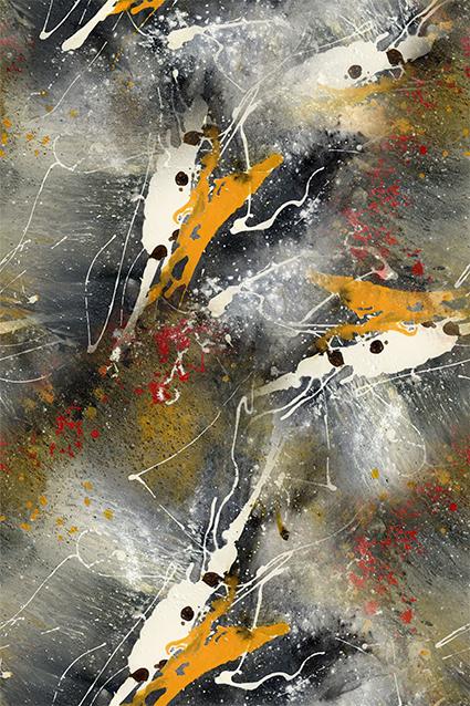 斑斓涂鸦渲染图案