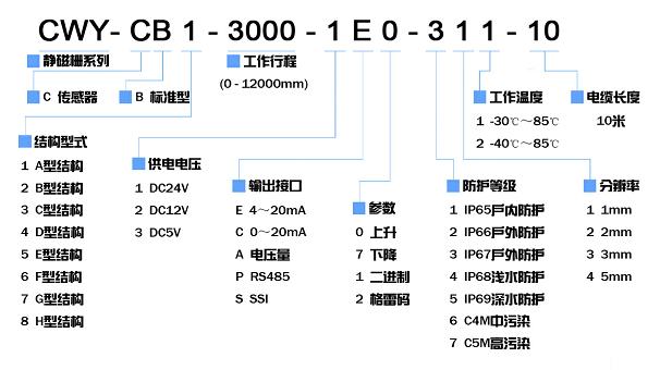 CWY-CB1 A型结构绝对williamhill中文传感器