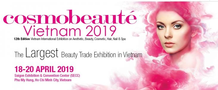 2019年越南国际美容、美妆、美发及SPA展 CosmoBeauteVietnam 2019