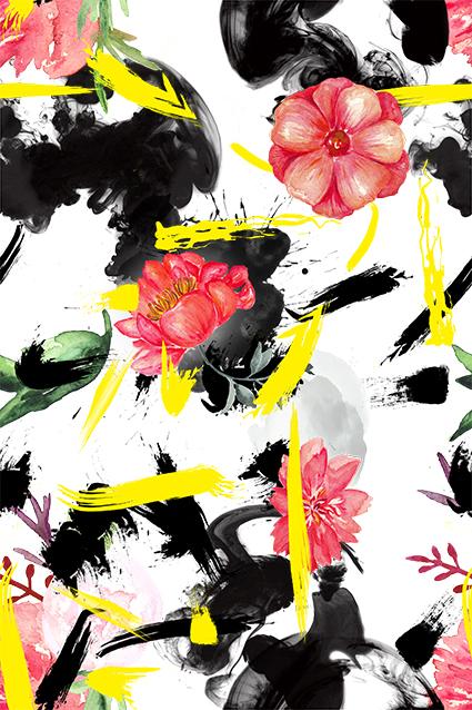 色彩云烟服饰花卉