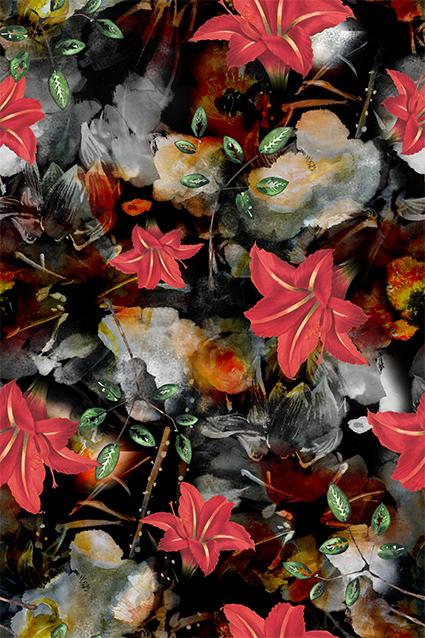抽象唯美妖艳植物花