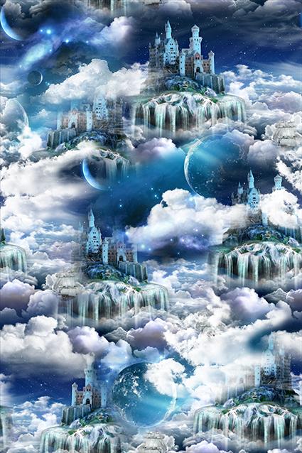 星空城堡元素云彩