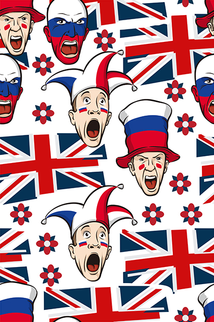 国旗帽子人物小丑