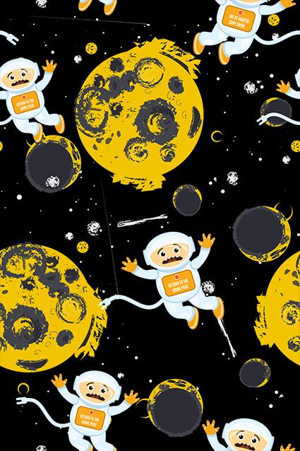 可爱太空宇航猴子