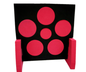 60*60*5cm  red  stand EVA foam archery target shooting target