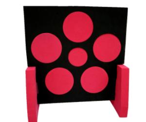 60*60*5cm  red  stand EVA foam archery target shooting target