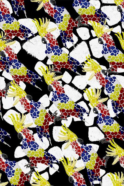 炫彩鹅卵石图案