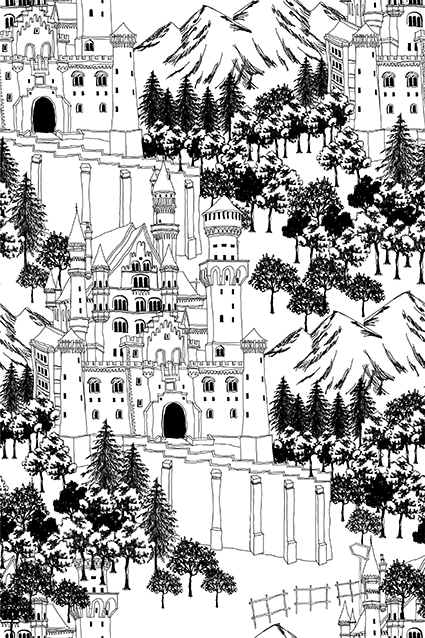 素描城市建筑图案
