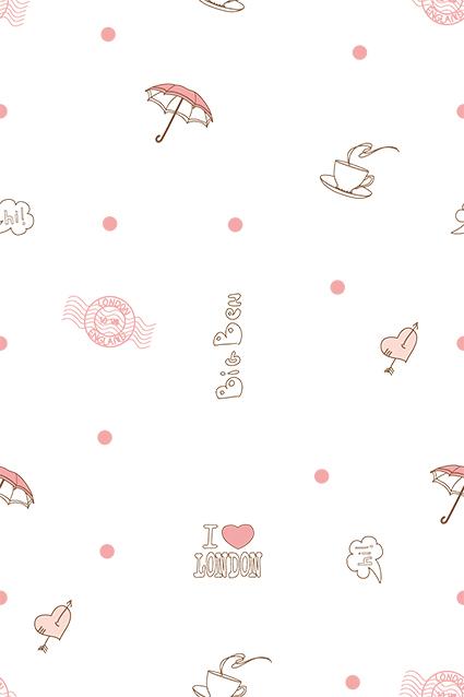 线条简约雨伞图饰