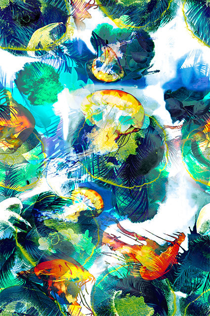 斑斓扶疏植物花叶