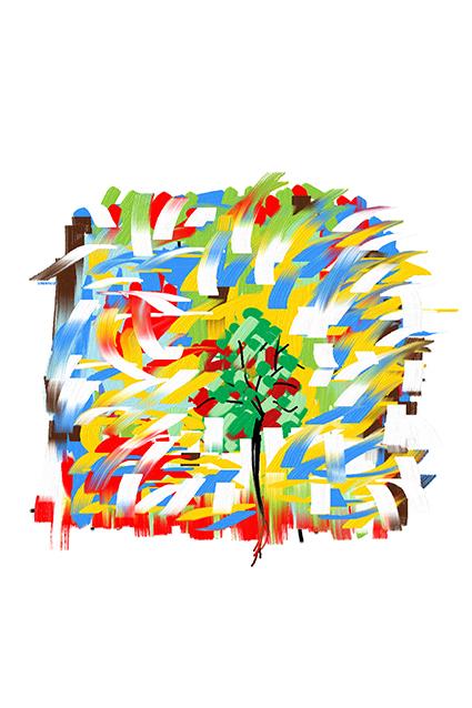 定位笔刷色彩图绘