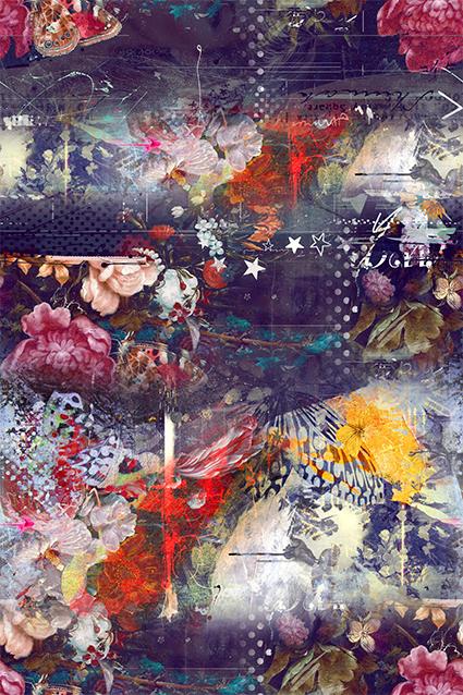 抽象色彩秀丽图绘