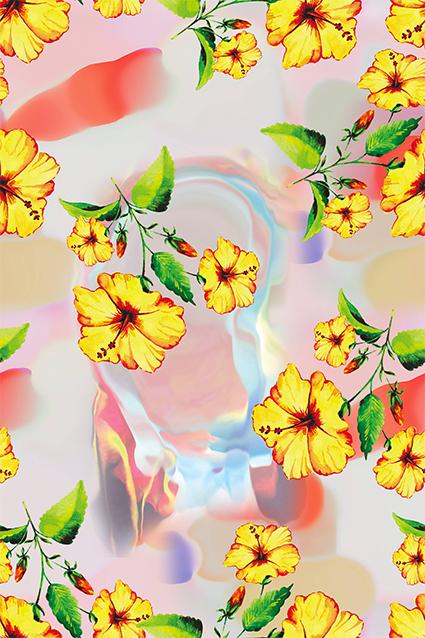水彩绚丽元素花朵