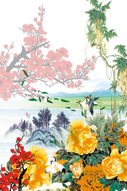 透视花底植物花