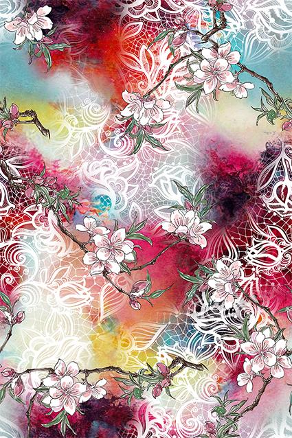 白色花边水彩图绘