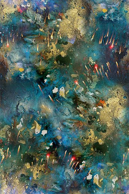 斑斓抽象色彩图绘