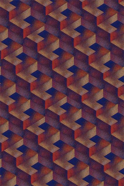 立体抽象炫彩格子