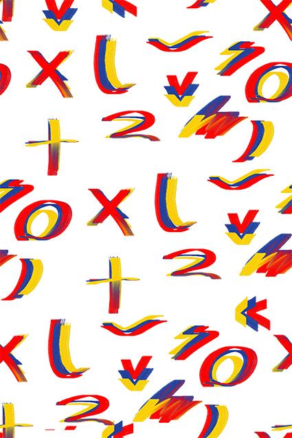 随笔绚丽炫彩字母