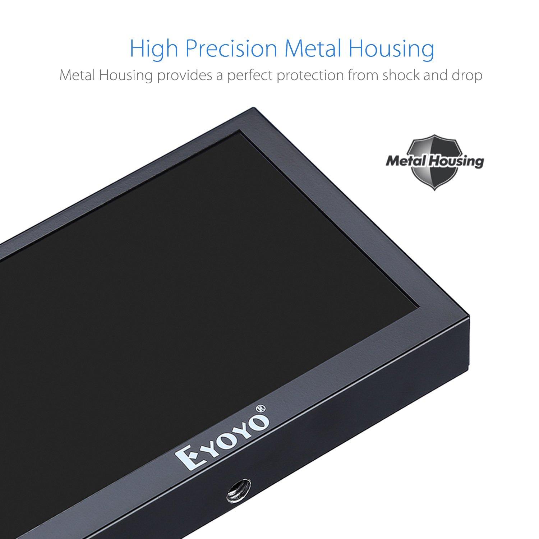 Eyoyo 5 inch Mini Monitor HD 800x480 16:9 TFT LCD Screen Display with BNC VGA AV HDMI Input, Built-in Speaker
