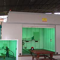 风力回收环保噴砂房