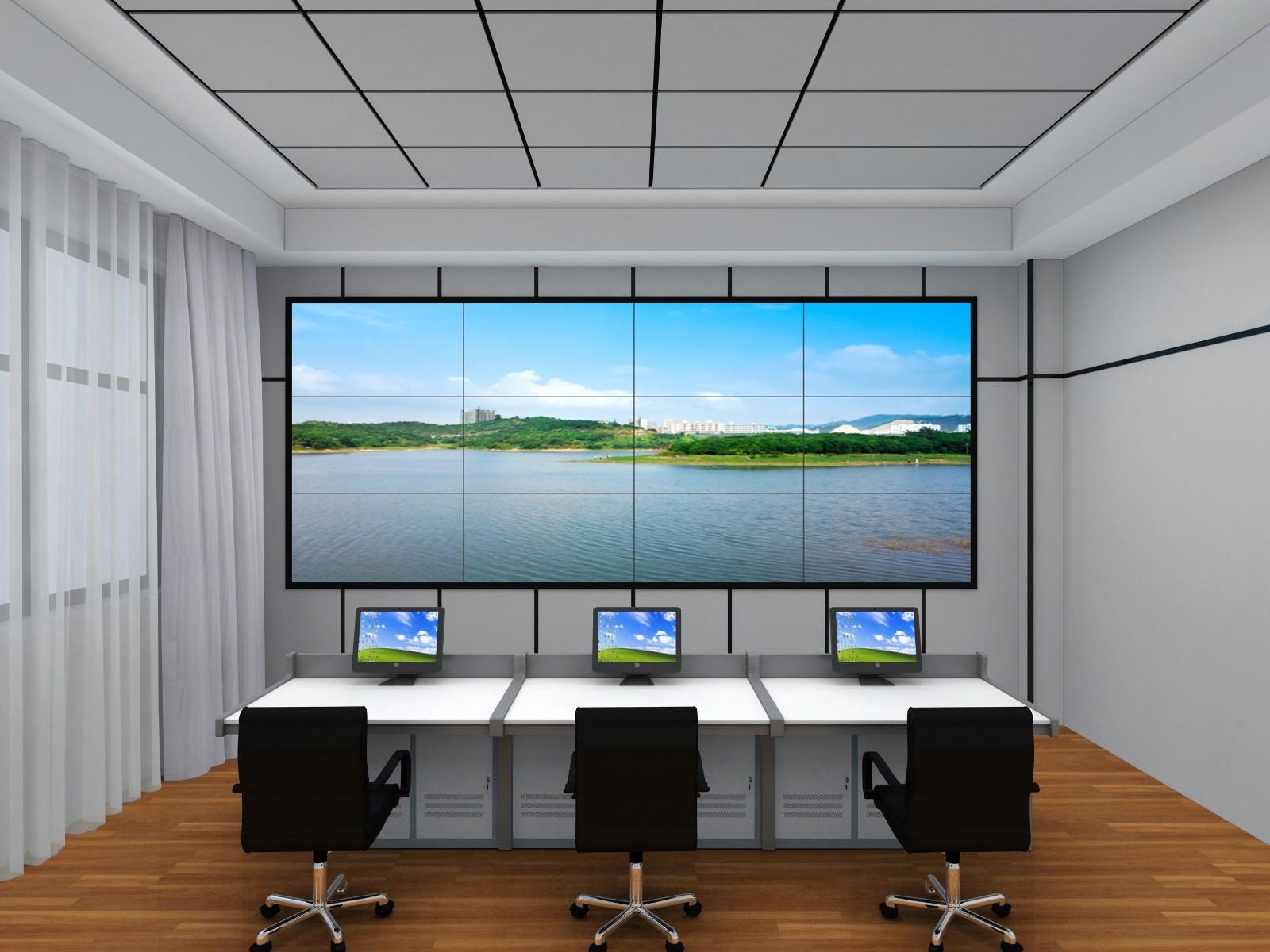 46寸液晶显示屏壁挂3x4效果图