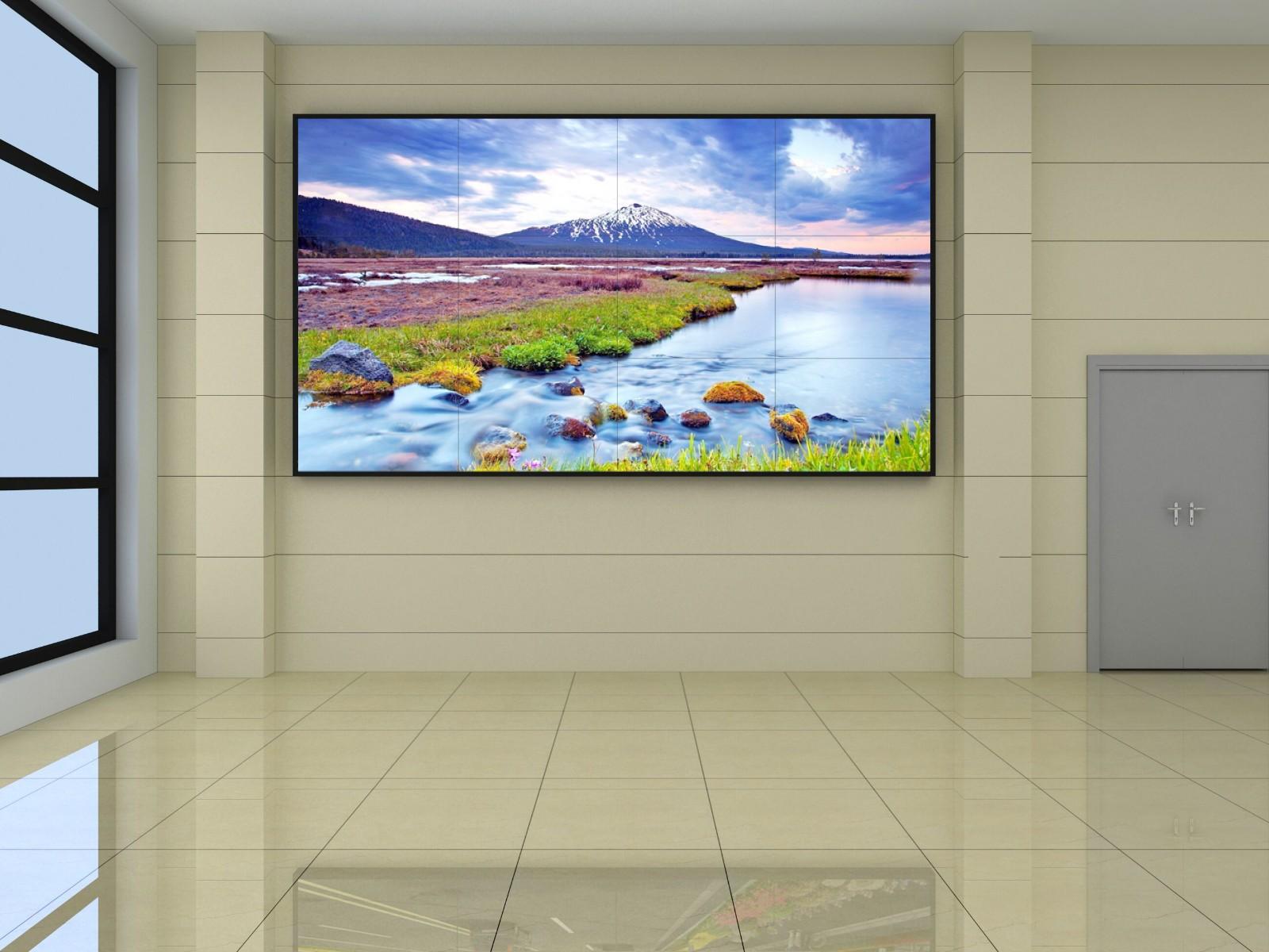 46寸液晶显示屏壁挂4x4效果图
