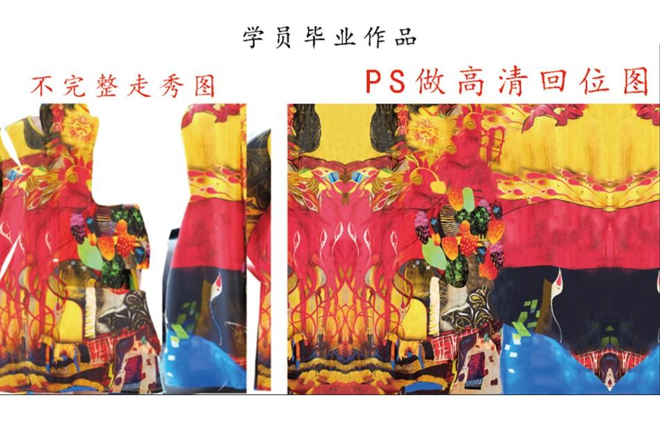 数码印花设计客户走秀图PS高清图
