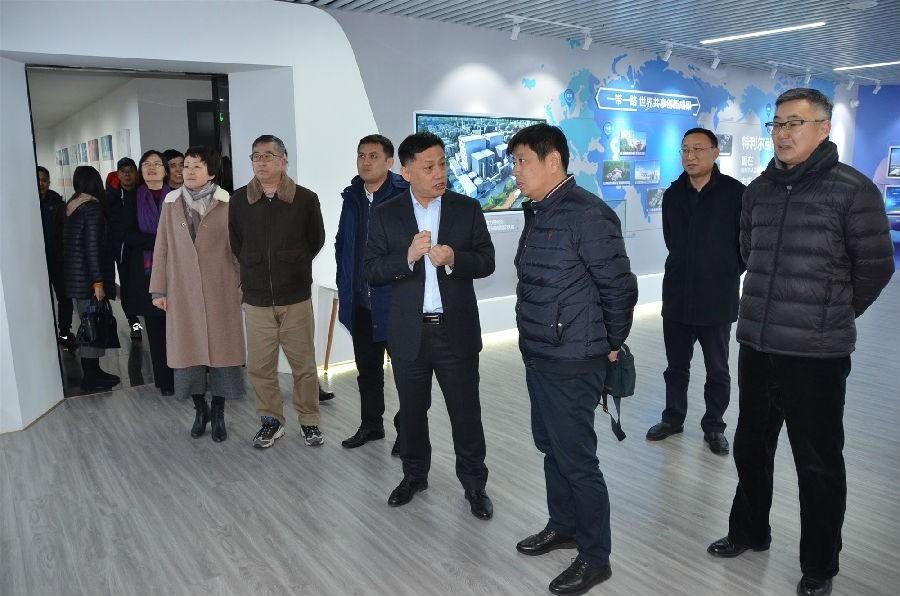 青岛市工商联领导参观走访福彩3d开机号环保集团公司