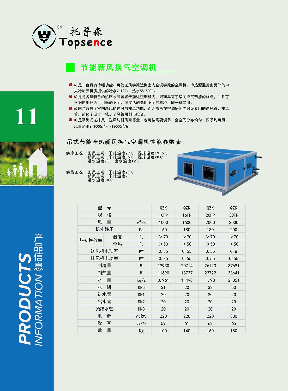 节能型新风换气空调机