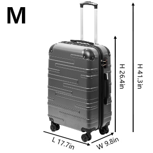 Coolife Luggage 3 Piece Set Suitcase Spinner Hardshell Lightweight