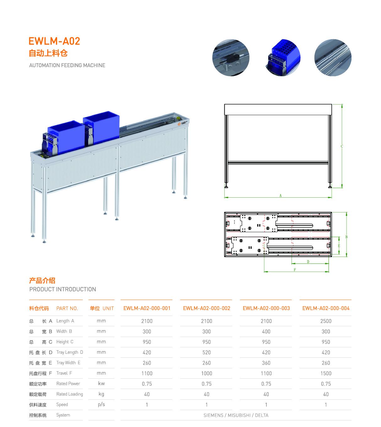 自动上料仓 EWLM-A02