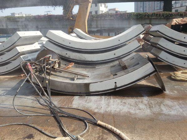 武汉地铁三号线管片切割