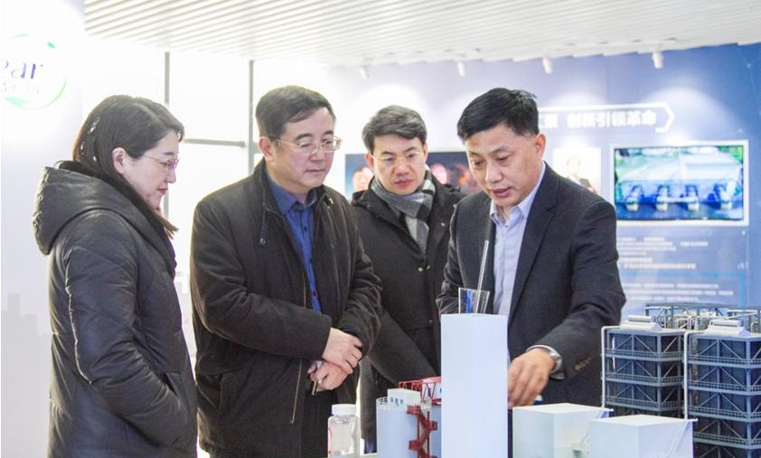 青岛市发改委和市南区领导到福彩3d开机号集团调研