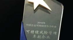 """中金珠宝 获""""2018年可持续风险管理卓越企业""""殊荣"""