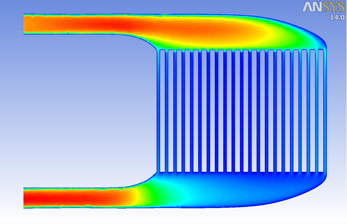 通用棱柱形电池模块中的气流