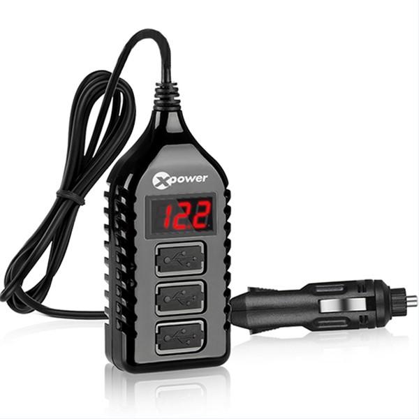 3U车载充电器+实时电瓶检测数显    E1