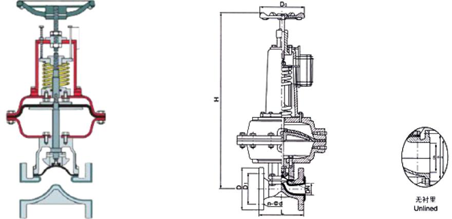 进口常开气动隔膜阀