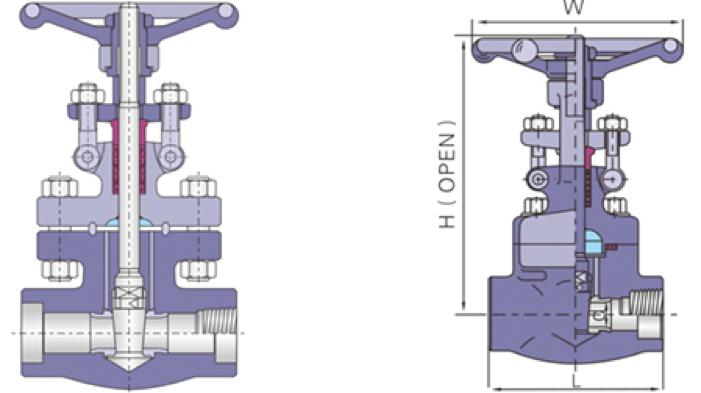 进口螺纹焊接锻钢闸阀
