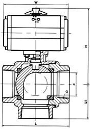 进口气动内螺纹三通球阀