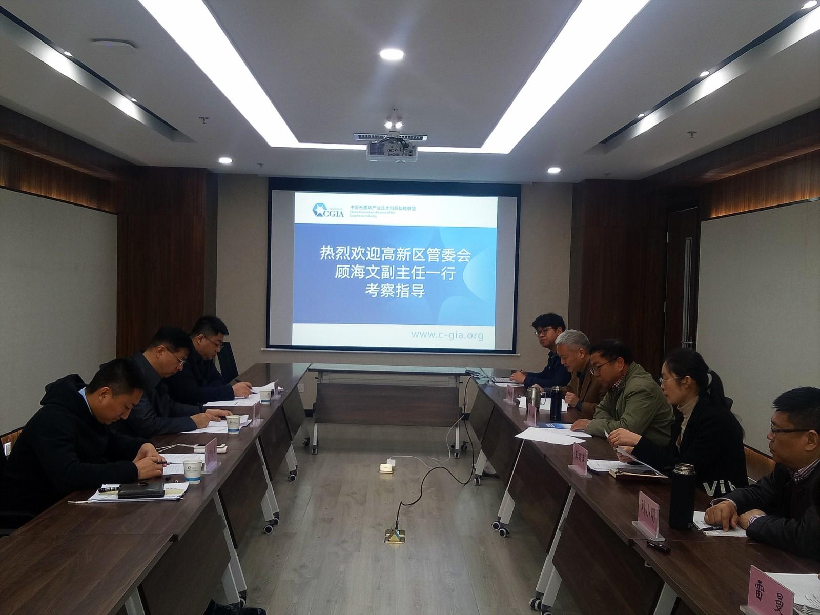 西安高新区管委会顾海文副主任一行到西安丝路石墨烯创新中心考察指导