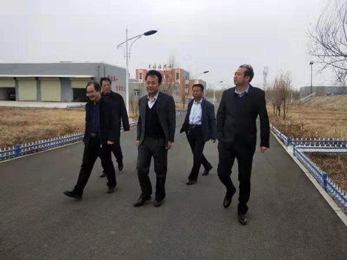 任海清局长视察奥福污水厂