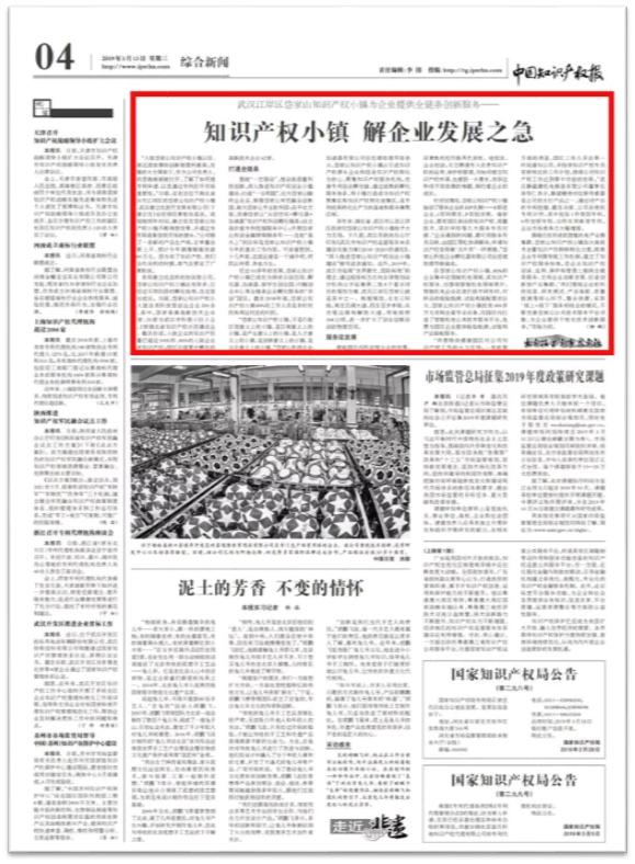 《中国知识产权报》采访岱家山科创城,董事长徐传仁受访